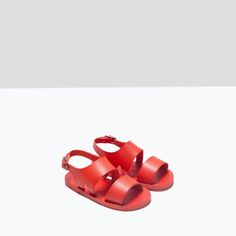 Image 5 of RED SINGLE COLOR SANDALS from Zara