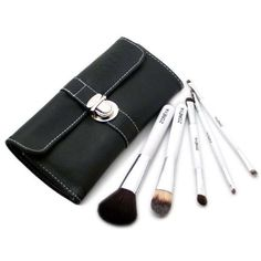 5 PCS professional powder brush with leather pouch -- Want additional info? Click on the image.