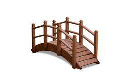 Oriental Wooden Garden Bridge 122cm Uk Manufactured Teak Finish