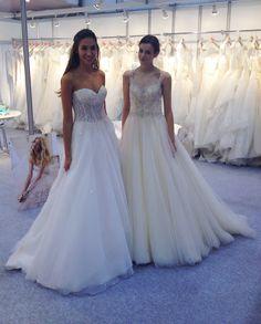 Two beautiful girls, our models in Harrogate #harrogatebridalshow #nicolespose #weddingdress