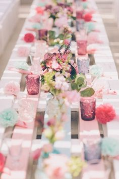 Decoración de mesa : Inspiración romántica chic : Calista One summer party {Foto, Bossanova Wedding} #weddingdecoration #decoracionbodas #tendenciasdebodas