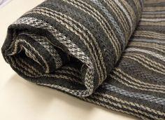 Multistripe Black Natural Blue Linen Bath Sheet linen towel Huckaback. $39.00, via Etsy.