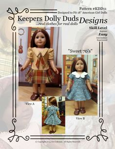 PDF Pattern KDD11 Sweet 70's An Original by KeepersDollyDuds
