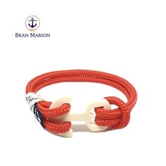 Red Sea Nautical Bracelet by Bran Marion Nautical Bracelet, Nautical Jewelry, Marine Rope, Azul Real, Red Sea, Handmade Bracelets, Jewelry Collection, Royal Blue, Blue And White