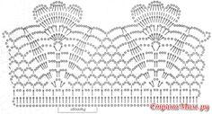 "Gallery.ru / Фото #14 - Шарф-снуд ""Стефания"" - tymannost Motif Bikini Crochet, Col Crochet, Crochet Angels, Crochet Lace Edging, Crochet Diagram, Thread Crochet, Crochet Doilies, Crochet Flowers, Crochet Stitches"