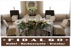 www.hotelfidalgo.es Table Settings, Table Decorations, Furniture, Home Decor, Events, Weddings, Grooms Table, Restaurants, Decoration Home
