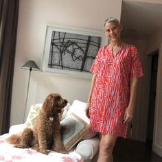 I whipped up this adorable super easy tunic dress from Ann Normandy patterns on etsy. I used a fabric I'd been saving for just the right thing. Now to hem the sleeves and bottom. Short Sleeves, Short Sleeve Dresses, Normandy, Knitted Fabric, Edith Ann, Super Easy, Sewing Projects, Sewing Patterns, Tunic