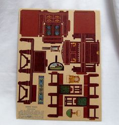 Toy furniture for Dolly uncut boxed set paper miniature Germany