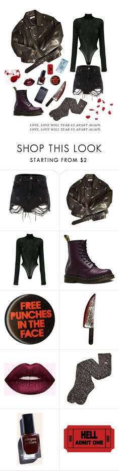 """Untitled #9"" by loulitababy ❤ liked on Polyvore featuring River Island, Balenciaga, Danielle Guizio, Dr. Martens, Forum Novelties, UGG and Cirque Colors"