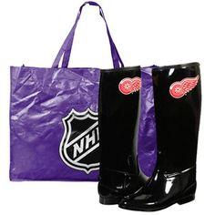 Detroit Red Wings Ladies Aficionado Tall Rain Boots