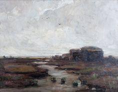 Nu in de #Catawiki veilingen: Sientje Mesdag - van Houten (1834-1909) - Veenlandschap - groot werk