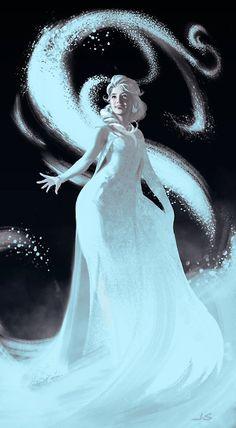 """Frozen Elsa"" by dustsplat at deviant -- Beautiful and so realistic! Disney Concept Art, Disney Fan Art, Disney Love, Disney Magic, Elsa Frozen, Disney Frozen, Frozen Heart, Frozen Pictures, Disney And Dreamworks"