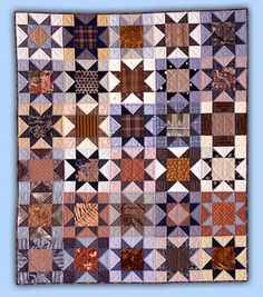 Roberta Horton: Workshops-Quilts  Great American Scrap Quilts - Pieced and Patched Stars 49x58 1985