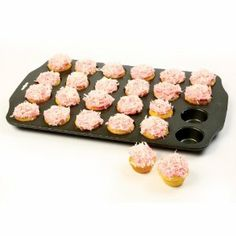 Norpro Nonstick 24 Cup Mini Muffin Pan by Norpro. $10.79. Commercial grade construction gives you even heating for uniform baking. Makes 24 mini muffins, cupcakes or hors d'oeuvres. Hand washing recommended. Each mini muffin, top 2 inches/5cm, bottom 1.25 inches/3cm and depth .75 inches/2cm. Uniquely designed wide lip edge is ideal for ease of handling.  Makes 24 mini size 2 inch/5cm muffins.  Also use for making cupcakes or hors d'oeuvres. Industrial grade materials and c...