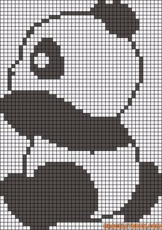 Cross Stitch Ideas panda cross stitch pattern tall x 43 squares wide) Pixel Crochet, Crochet Fox, Crochet Chart, Cross Stitch Charts, Cross Stitch Designs, Cross Stitch Patterns, Cross Stitching, Cross Stitch Embroidery, Hand Embroidery