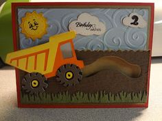 Hi all! My nephew turned two this month. He loves trucks so I decided to make him a dump truck birthday card. I recently purchased the  Move...
