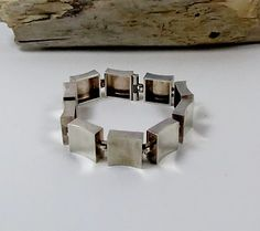 Rare Modernist N E From Denmark Sterling Silver Bracelet Sterling Silver Bracelets, Silver Jewelry, Denmark, Scandinavian, World, Mid Century, Hardware, Accessories, Jewellery