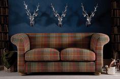 The Grandad Highland Wool Tartan Sofa by Indigo Furniture Living Room Sofa, Home Living Room, Living Room Furniture, Dining Room, Indigo Furniture, Colorful Furniture, Wood Furniture, Plaid Sofa, Vintage Leather Sofa