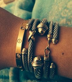 David Yurman & Cartier love bracelet❤️❤️❤️