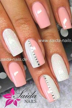50 Sweet Rose Nail Design Ideas for a Manicure is .- 50 Sweet Rose Nail Idées de Design pour une Manucure, c'est exactement ce don… 50 Sweet Rose Nail Design Ideas for a Manicure is Just What You Need – 19 Peach Nails, Rose Nails, Pastel Nails, Acrylic Nails, Nail Pink, Coffin Nails, Purple And Pink Nails, Pink Summer Nails, Red And White Nails