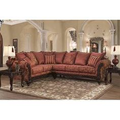 Astoria Grand Fairclough Sectional Upholstery: Momentum Khaki, Orientation: Right Hand Facing Furniture, Room, Home Living Room, Living Room Collections, Upholstered Furniture, Home Decor, Sectional, Sectional Sofa Couch, Home And Living