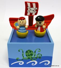 Toys Link - Wooden Music Box - Pirate