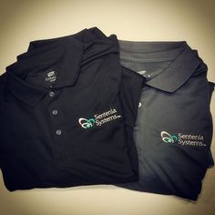 UltraClub's Cool-N-Dry polos are popular with employees in the tech industry! #Custom #Embroidery #Tech