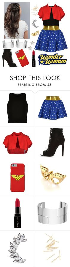 """Wonder Woman look✨"" by juan-ignacio on Polyvore featuring moda, River Island, Space Style Concept, Noir, Smashbox, Dinh Van y Givenchy"