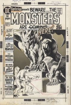 """DC Special #11 cover """"Beware...The Monsters Are Here!"""" - Neal Adams (Penciller) & Berni Wrightson (Inker)"""
