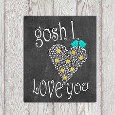 Love quote print Love art Printable Chalkboard art by DorindaArt, $5.00