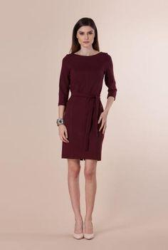 Rochie visinie din jerse gros Remmy -  Ama Fashion Dresses For Work, Fashion, Moda, Fashion Styles, Fashion Illustrations, Fashion Models