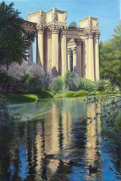 #PalaceofFineArts in #SanFrancisco #painting oil on canvas