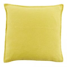 Twill Linen Square Cushion Quince