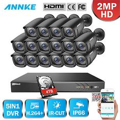 Alibi 16 Camera 2 1 Megapixel 65 Ir 960h Hd Tvi Hybrid