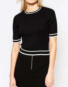 Image 3 ofMonki Short Sleeve Knit Top