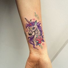 This is the most adorable unicorn tattoo ever!