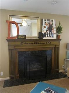 Mantel Makeover - how do this with a big ole tv over the mantel?