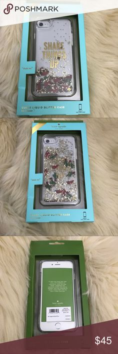 """Kate Spade glitter """"shake it up"""" iPhone 7 case ✨BNWT!✨ Super fun liquid case with cute lil cactus and peppers!  💎Never worn or used!💎   🛍2+ BUNDLE = 💰SAVINGS!  ‼️= PRICE FIRM!   💯AUTHENTIC BRANDS, ALWAYS!  ✈️ SUPER FAST SHIPPING!   🖲 USE THE OFFER BUTTON TO NEGOTIATE!  ❓ Questions? Just comment! ❤️  🤗❤✌🏼HAPPY POSHING!✌🏼❤️🤗 kate spade Accessories Phone Cases"""