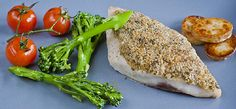 Grey Mullet with a Lemon and Almond Crust