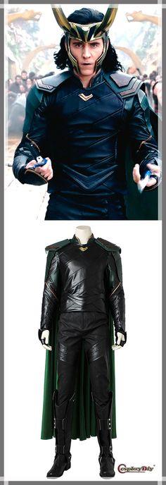 Cosplaydiy THOR 3 Ragnarok Loki Cosplay Costume Men's costume For Halloween/Party