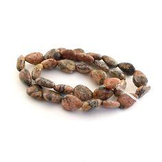 Beads Small Red Leopardskin Jasper Teardrops 12 x by CinLynnBeads, $3.00