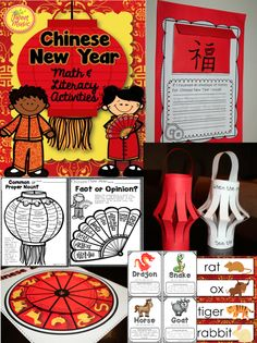 Teach your students about Chinese New Year with this comprehensive activity package that is full of easy to use printables, common core aligned math and literacy activities and craftivities for display! This package has many wonderful options for you to pick and choose what you would like to use to teach about this fascinating holiday. $