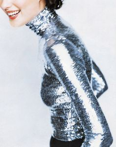 Shalom Harlow in a Ralph Lauren Collection Turtleneck shot by Mario Testino for Harper's Bazaar 1995 Fashion Mode, Look Fashion, High Fashion, Fashion Trends, Mode Style, Style Me, Mode Top, Mario Testino, Mode Editorials