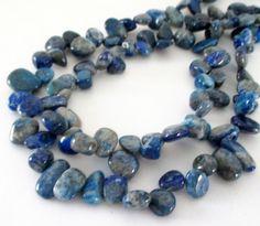 Sodalite Teardrop Beads  Denim Blue Sodalite by BijiBijoux on Etsy