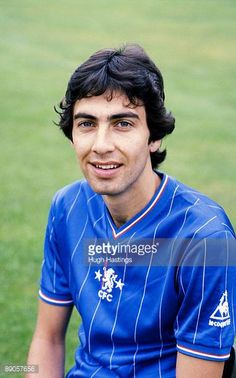 Peter RhoadesBrown of Chelsea poses for a photograph taken during the Chelsea FC photocall held in August 1982 at Stamford Bridge in London London Football, Retro Football, College Football, Chelsea Fc, Chelsea Football Team, Soccer Fifa, European Soccer, Portrait Pictures, Stamford Bridge