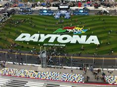 High above the track on the spotter's stand at Daytona