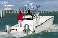 The Calcutta 263 catamaran is an excellent fit for all offshore fishing, diving and leisure use. Our unique catamaran hull design offers a smooth ride Power Catamaran, Center Console Boats, Pontoons, Offshore Fishing, Boat Building, Design, Pontoon Boats