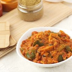 Authentic Punjabi style paneer curry with capsicum, tomato and onion.