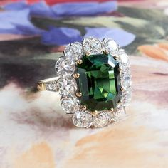 Ring Size 7 Tourmaline Ring Natural and Untreated Green Tourmaline 1.30ct Platinum Finish Solid 925 Sterling Silver Promise Ring Oval,