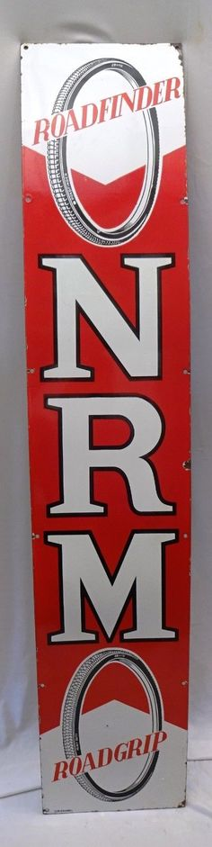 eBay: VINTAGE ROADFINDER NRM CYCLE AUTO TIRE ADVERTISING SIGN PORCELAIN ENAMEL RARE #7 #vintage #retro